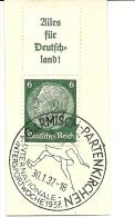 Germany Daymark Garmisch-Partenkirchen Intern. Wintersportwoche 30-1-1937 Nice Cut - Kunstschaatsen