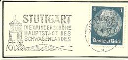 Germany  Nice Cut Daymark Meter STUTTGART Die Wunderschone Hauptstadt Des Schwabenlandes 7-1-1936 - Vakantie & Toerisme