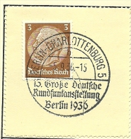 Germany  Nice Cut Daymark Berlin Charlottenburg 15 Grosse Deutsche Rundfuncausstellung  5-9-1936 - Wetenschappen