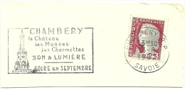 France Nice Cut Meter CHAMBERY Le Chateau, Les Museees, Les Charmettes SON & LUMIERE 13-8-1967 - Kastelen