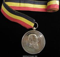 M00550 Athénée Royale De Bruxelles, Prix Excellence (31/07/1906) Et Léopold II En Buste Au Revers Par De Vigne- Hart 52g - Royal / Of Nobility