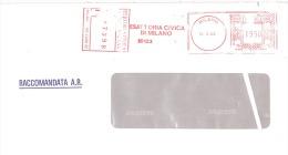 1985 Esattoria Civica Di Milano Raccomandata £ 1950 - Affrancature Meccaniche Rosse (EMA)