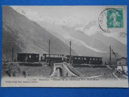CHAMONIX  -  Chemin De Fer électrique Et Le Mont Blanc - - Chamonix-Mont-Blanc