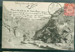 "Tan-Chin-hsia ( En Manuscrit: ""petite Pagode Du Ruisseau De La Guitare Qui Chante"" Envoi De Pékin En 1908 - Abi101 - Chine"