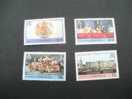 F3247- Set MNH Anguilla-  25th.  Anniv. Of Coronation Queen Elizabeth II -1978- - Anguilla (1968-...)