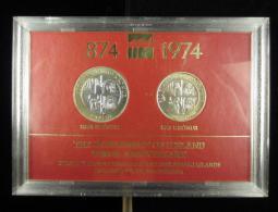 AG00555 Islande 874-1974, 500 Et 1000 Kronur En Argent, Unc, étui D´origine, Anniversaire - Finland
