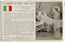 CARTOLINA PREGHIERA DEL SOLDATO ITALIANO FERITO PRIMA GUERRA MONDIALE - Guerra 1914-18