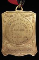 M00558 Usines Allard, Cercle Ind. étoile, Expo Agriculture (27/10/1927) Et J.A.C. Avec Fleurs Au Revers. 58 G - Belgium