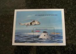 E856- Bloc MNH St. Vincent, Grenadines. Scott Cat. #660-  20th. Anniv. Of The First Moonwalk - Ruimtevaart