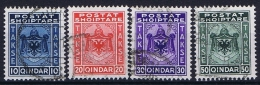 Albania:  1930 Michel Nr 30 - 33 Used   Takse , Porto Marken - Albania