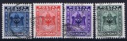 Albania:  1930 Michel Nr 30 - 33 Used   Takse , Porto Marken