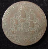 M00572 Halfpenny 1791. A Ship Sailing To R. Over Laurels. LIVERPOOL 10 G - Professionnels/De Société