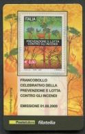 ITALIA TESSERA FILATELICA 2009 - PREVENZIONE E LOTTA CONTRO GLI INCENDI - 331 - 6. 1946-.. Republik
