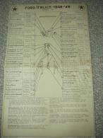 Origineel Caltex Smeerschema Voor FORD F7 TRUCK 1948-1949 - Camions