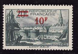 FRANCE  1940  -  Y&T   492  -  Saint Malo   -  NEUF**  - Cote 2e - Ungebraucht