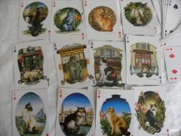 Jeu De Cartes à Jouer ATOUT CHAT Aquarelle Bernard VERCRUYCE Complet 54 Cartes - Autres Collections