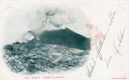 [DC7057] VESUVIO - CRATERE IN ERUZIONE - Viaggiata 1901 - Old Postcard - Napoli (Naples)