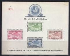 VENEZUELA 1952 - Yvert #H3 - MNH ** - Venezuela
