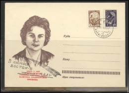 RUSSIA USSR Special Cancellation USSR Se SPEC NNN1963kz KAZAKHSTAN Space Tereshkova Vostok-6 - 1923-1991 USSR
