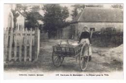 QUIMPER  LES ENVIRONS  LE DEPART POUR LA VILLE - Quimper