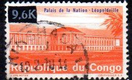 CONGO 1968 National Palace, Leopoldville.  -9.6k. On 4f - Orange And Blue  FU - Gebraucht
