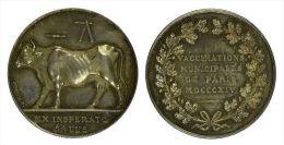 AG00002 Ex Insperato Salus, Une Vache Par Depaulis, Vaccination Paris 1814, Argent, 18 G. - Autres