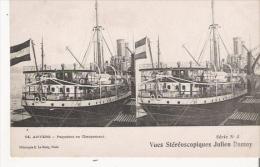 ANVERS 14 PAQUEBOT EN CHARGEMENT (CARTE STEREO) - Antwerpen