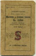 Machine A Coudre Singer N° 15B88 - Instructions Pour L'emploi De La ... - Vieux Papiers
