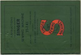 Singer Sewing Machine 71 - 141 - Vieux Papiers