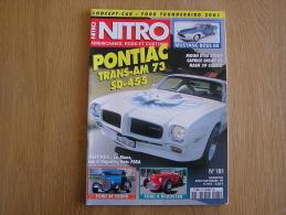 NITRO Revue N° 181  Auto Automobiles Américaines Cars Customs Pontiac Ford  Mustang Caprice Break - Auto/Moto