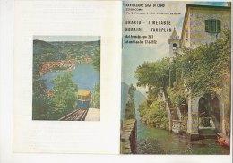 C1152 - Brochure Turistica NAVIGAZIONE LAGO DI COMO - ORARI TRAGHETTI FERRY BOAT 1972/LENNO/BELLANO/CADENA BBIA/BELLAGIO - Europa