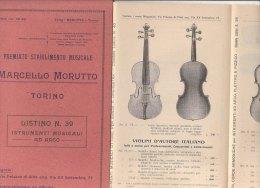 C1172 - Listino Illustrato STRUMENTI MUSICALI AD ARCO : VIOLINI - VIOLE - CONTRABBASSI Stab.Musicale - Torino 1929 - Strumenti Musicali
