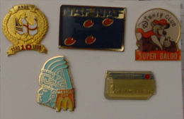 Lot De 5 Pin's - Pin's
