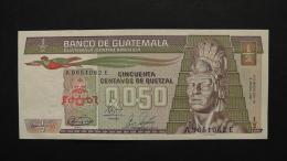 Guatemala - 1/2 Quetzal - 1989 - P 65 - Unc - Look Scan - Guatemala
