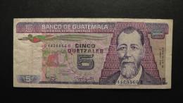 Guatemala - 5 Quetzales - 1986 - P 67 - VF - Look Scan - Guatemala
