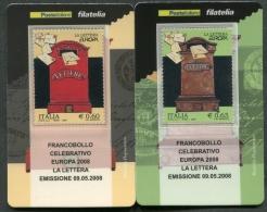 ITALIA TESSERA FILATELICA 2008 - EUROPA CEPT LA LETTERA - 270 - 6. 1946-.. Republik