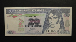 Guatemala - 20 Quetzales - 1992 - P 83 - XF+ (2 Little Pinholes)  - Look Scan - Guatemala