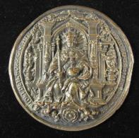 M00728 Copie Sceau En Cire, Roi Anonyme En Majesté 238 G. - Royaux / De Noblesse