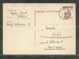 POLAND PC 1959 PC WROCLAW BRESLAU TOWN HALL USED MALBORK DATE VIII.59 ARCHITECTURE TOWNS CITIES - Stamped Stationery