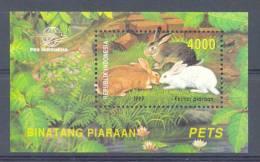 Mgm2025 FAUNA KNAAGDIEREN KONIJN RODENTS PETS RABBIT INDONESIA 1999 PF/MNH  VANAF1EURO - Rodents
