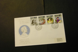 Hong Kong 447-50 Queen Mother 85th Birthday Set  With Day Of Issue Cancel 1985 A04s - Hong Kong (...-1997)
