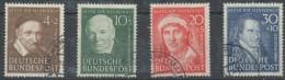 Allemagne Fédérale Deutschland 1951 Yvertn° 29-32 Michel 143-46 (°) Used Cote 180 Euro - Oblitérés