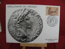 FDC, Bimillénaire De Limoges - 87 Limoges - 3.5.1991 - 1er Jour - Carte Maxi - FDC