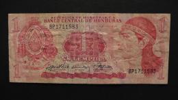 Honduras - 1 Lempira- 1989 - P 68c - VF-  - Look Scan - Honduras