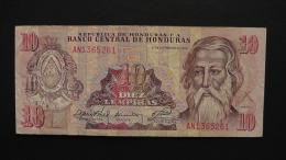 Honduras - 10 Lempiras- 1989 - P 70a - VF  - Look Scan - Honduras