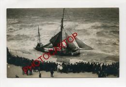 NAUFRAGE-VOILIER-OOSTENDE-Bateau-Marine-Mer-Segelboot-2 X Cartes Photo-BELGIEN-Flandern- - Oostende