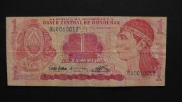 Honduras - 1 Lempira- 1992 - P 71 - VF  - Look Scan - Honduras