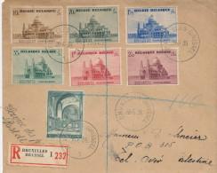 516/21 -  Lettre Service Des Postes Recommandée Série TP Koekelberg BRUXELLES 1938 Vers TEL AVIV Palestine - Belgique