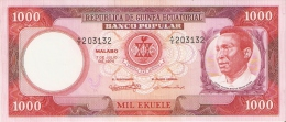 BILLETE DE GUINEA ECUATORIAL DE 1000 EKUELE DEL AÑO 1975 SIN CIRCULAR-UNCIRCULATED (BANKNOTE) - Equatorial Guinea