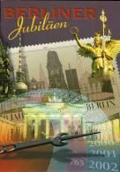 Gedenkblatt Sehenswürdigkeiten Berlin BRD 1287 HG ** DDR 3075/8 SST Im EB6/01 12€ Bauwerke Denkmäler Document Of Germany - Hologramme